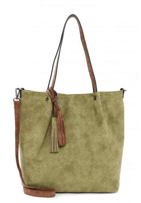 EMILY & NOAH Shopper Bag in Bag Surprise groß Grün 331967 khaki cognac 967
