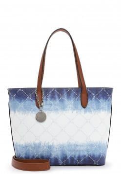 Tamaris Shopper Anastasia Batic klein Weiß 30913305 white/blue 305