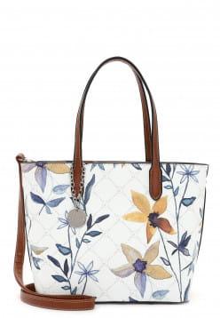Tamaris Shopper Anastasia Flower klein Weiß 30923399 white flower 399