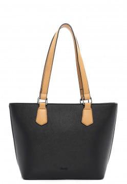 Sina Jo Shopper Karina mittel Schwarz 863100 black 100