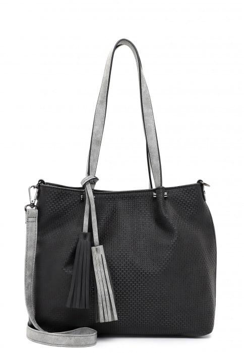 EMILY & NOAH Shopper Bag in Bag Surprise klein Schwarz 330108 black grey 108