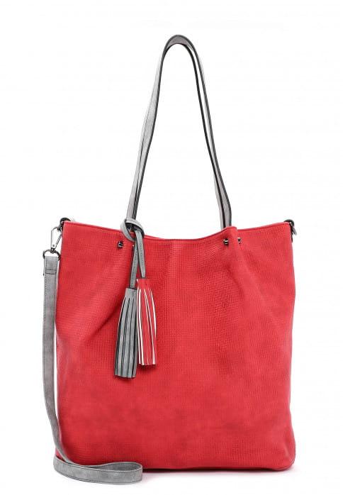 EMILY & NOAH Shopper Bag in Bag Surprise groß Rot 331608 red grey 608