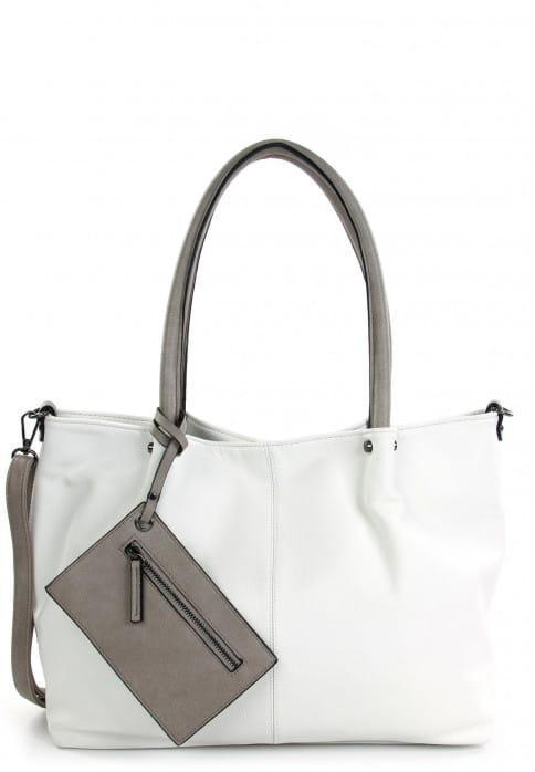 EMILY & NOAH Shopper Bag in Bag Surprise Weiß 401308 white grey 308