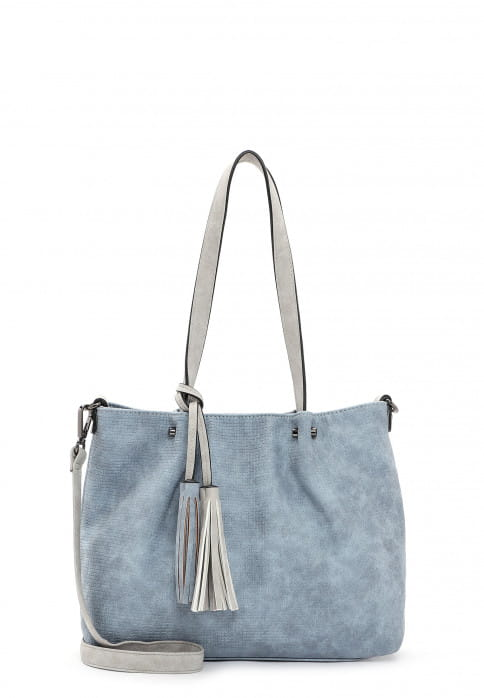 EMILY & NOAH Shopper Bag in Bag Surprise klein Blau 330538 sky grey 538
