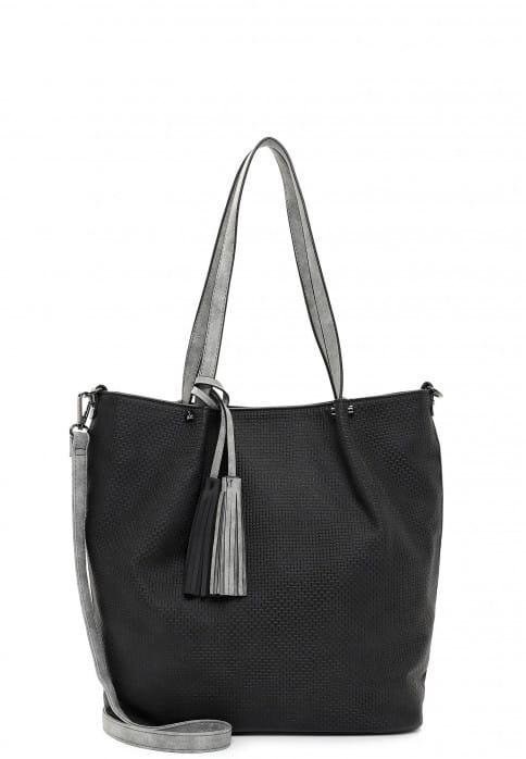 EMILY & NOAH Shopper Bag in Bag Surprise groß Schwarz 331108 black grey 108